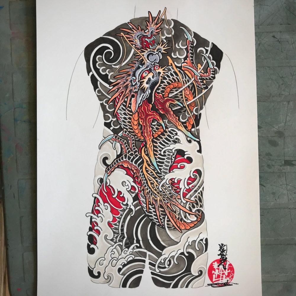 Dragon Back #1 Tattoo Illustration
