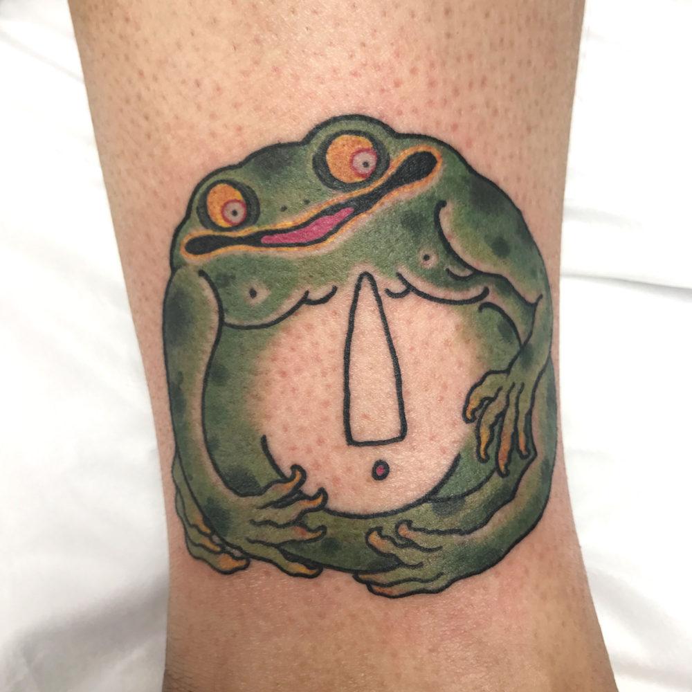 Frog Tsuba Tattoo