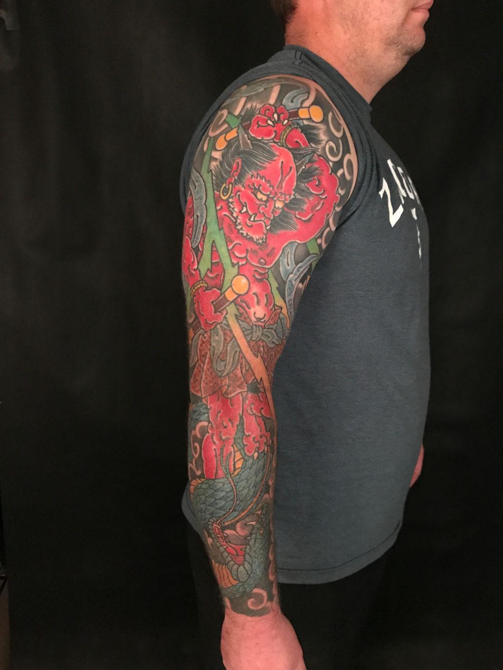 Fujin Sleeve Tattoo