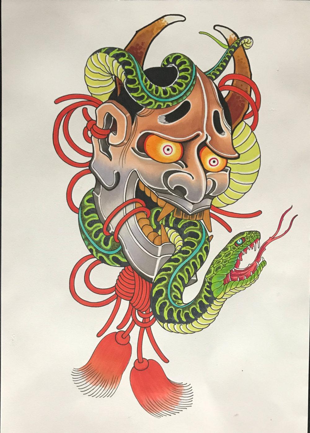 Hanya Snake Tattoo Illustration