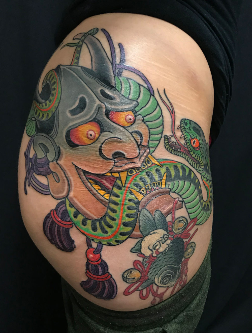 Hannya and Snake Cup Tattoo