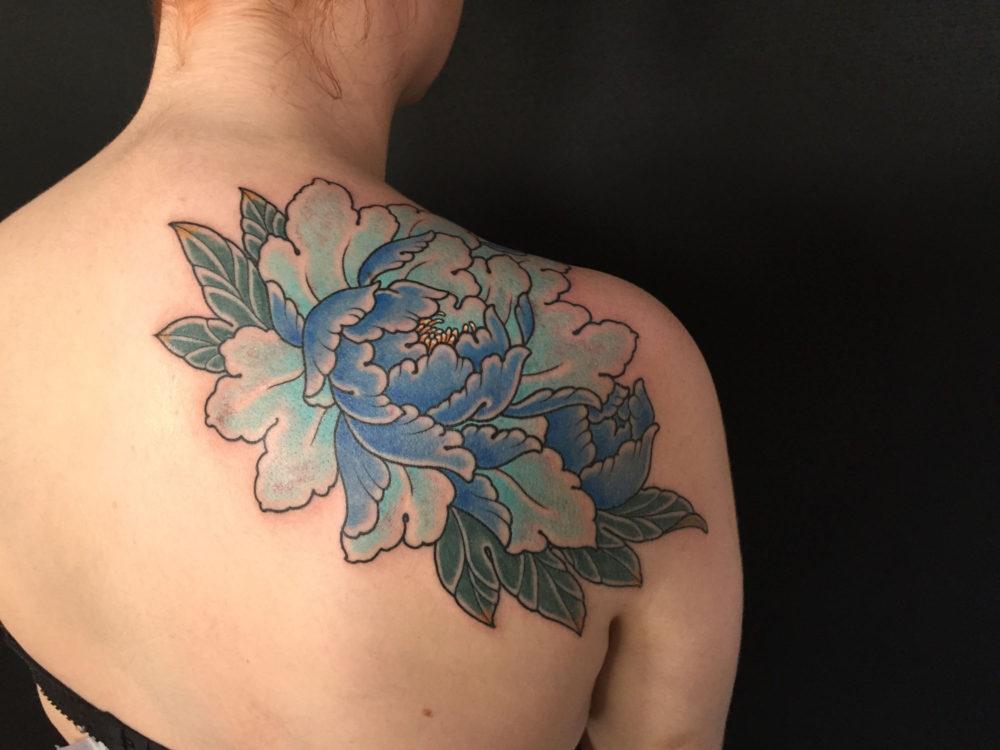 Floral Shoulder rear Tattoo