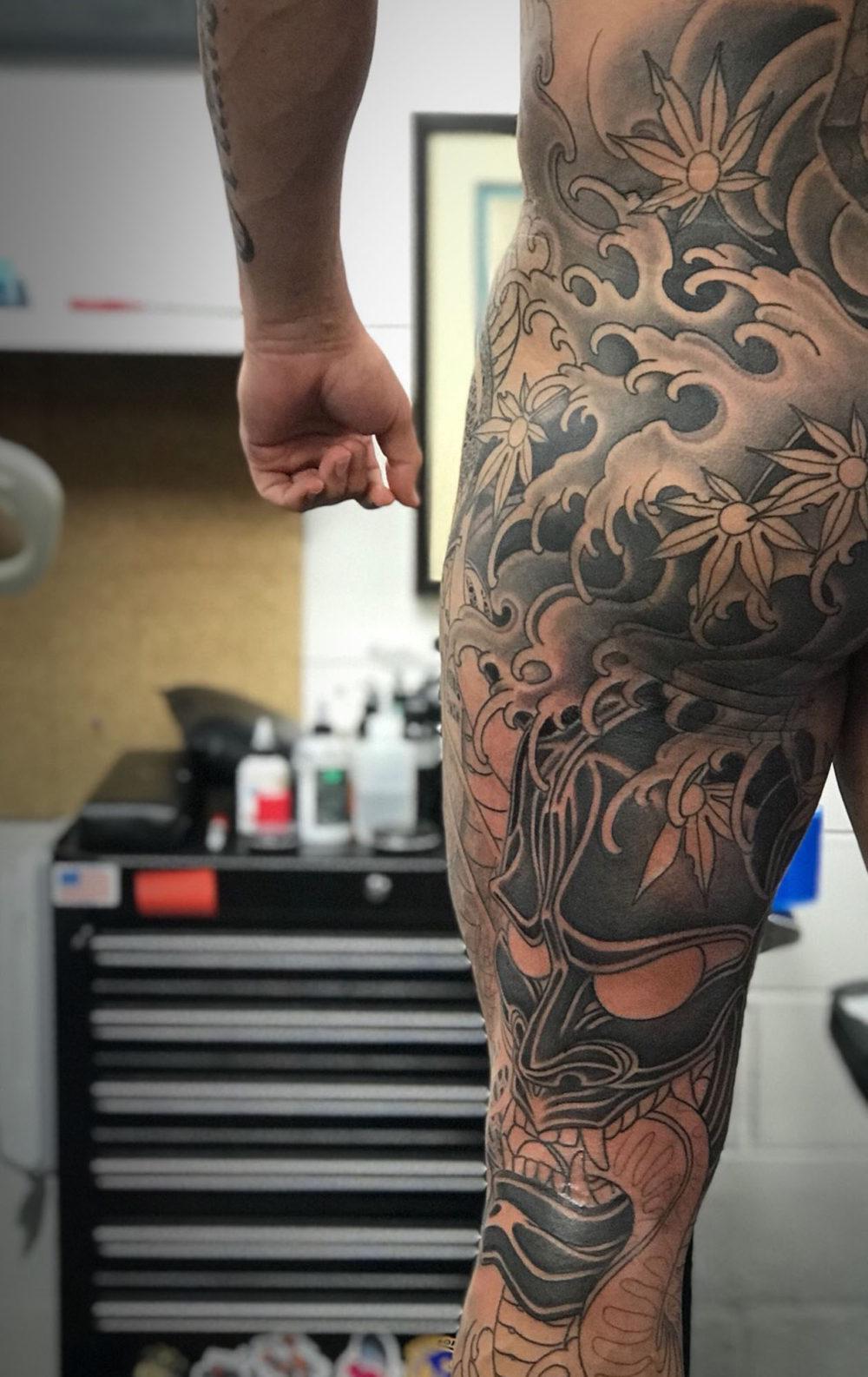 WIP Butt rear leg Tattoo