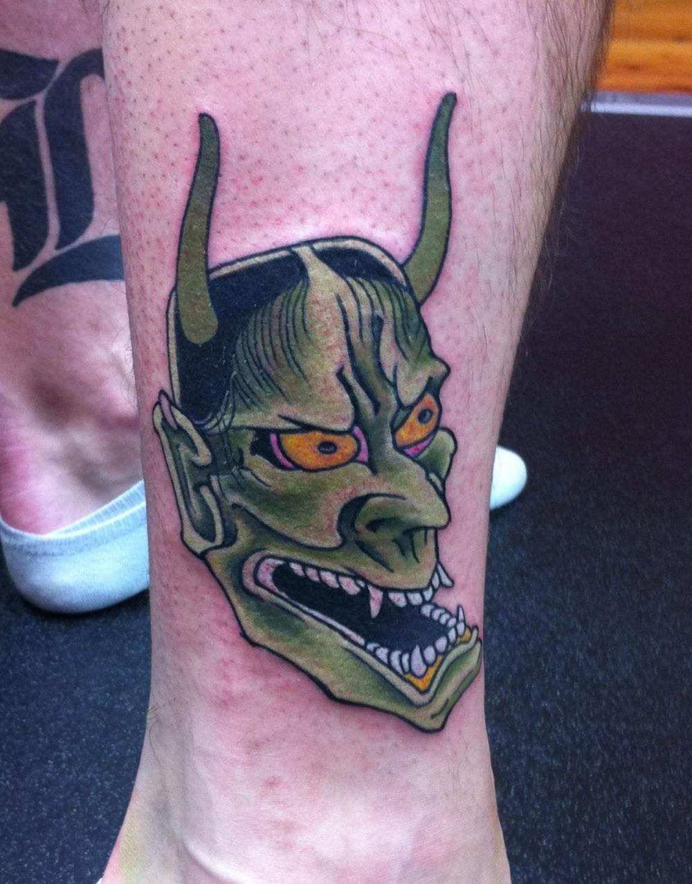Lower Leg Tattoo