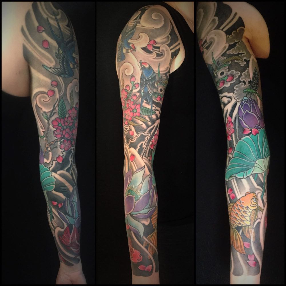 Koi and Blossom Tattoo