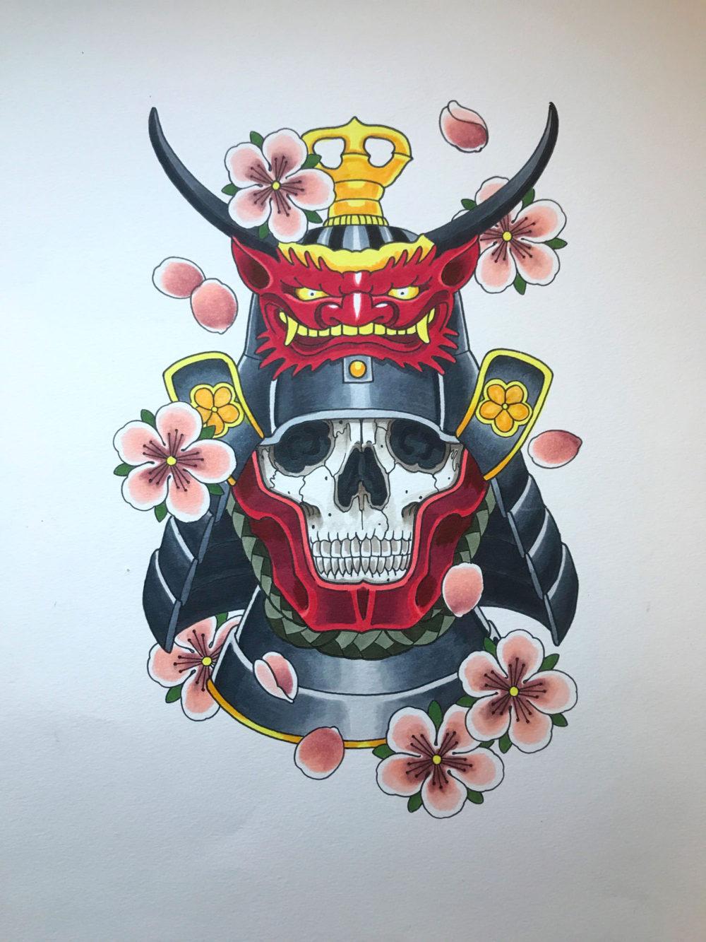 Oni Namkubi Tattoo Illustration