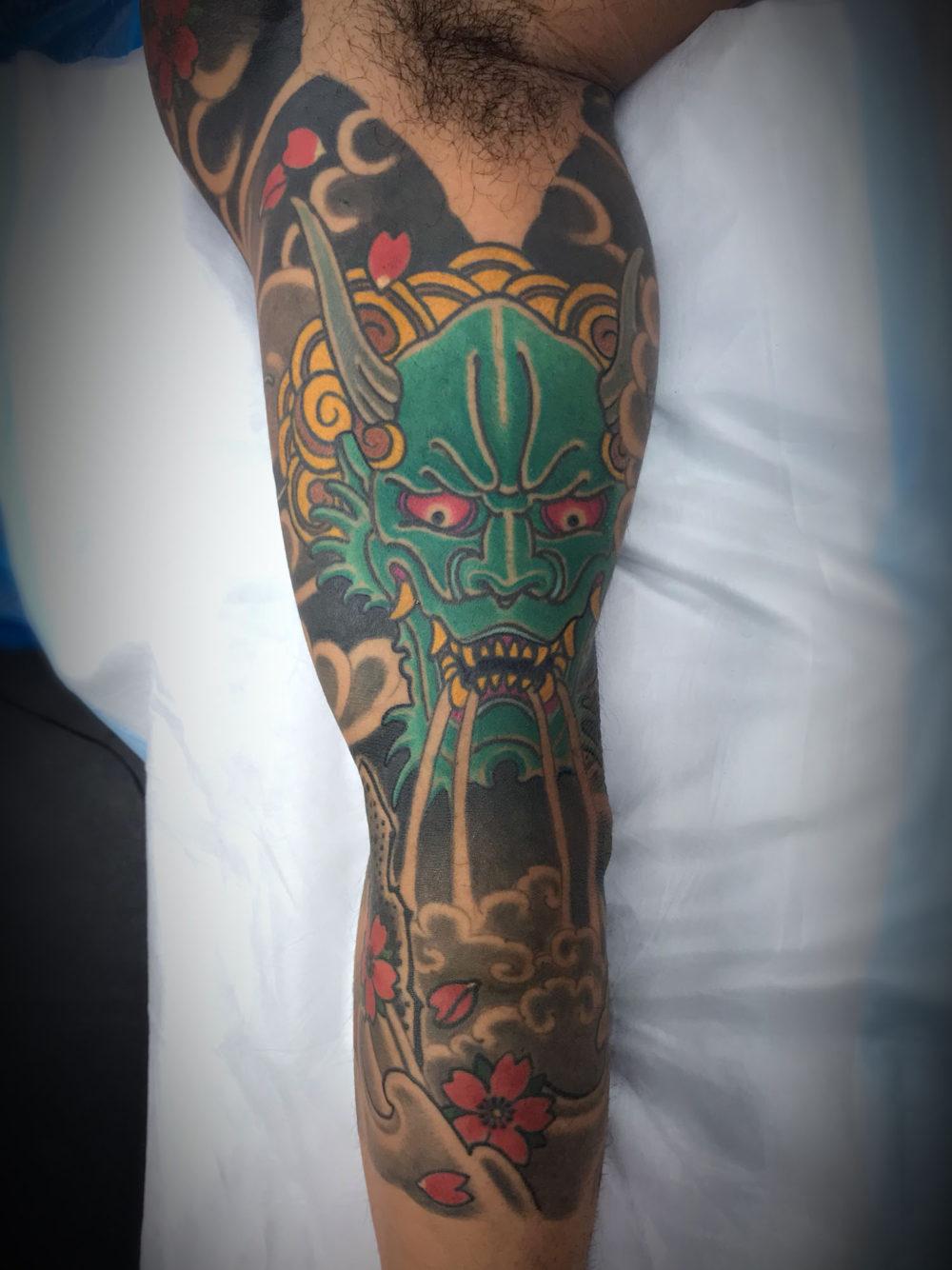 Oni Underarm Tattoo