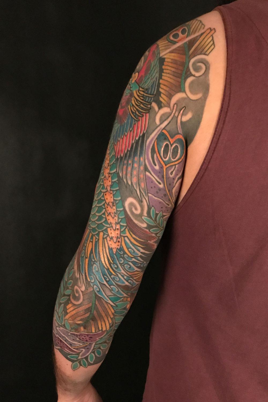 Phoenix Sleeve #4 Tattoo