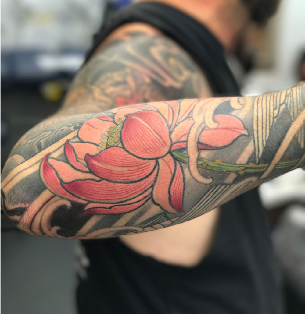Pink Lotus #1 Tattoo