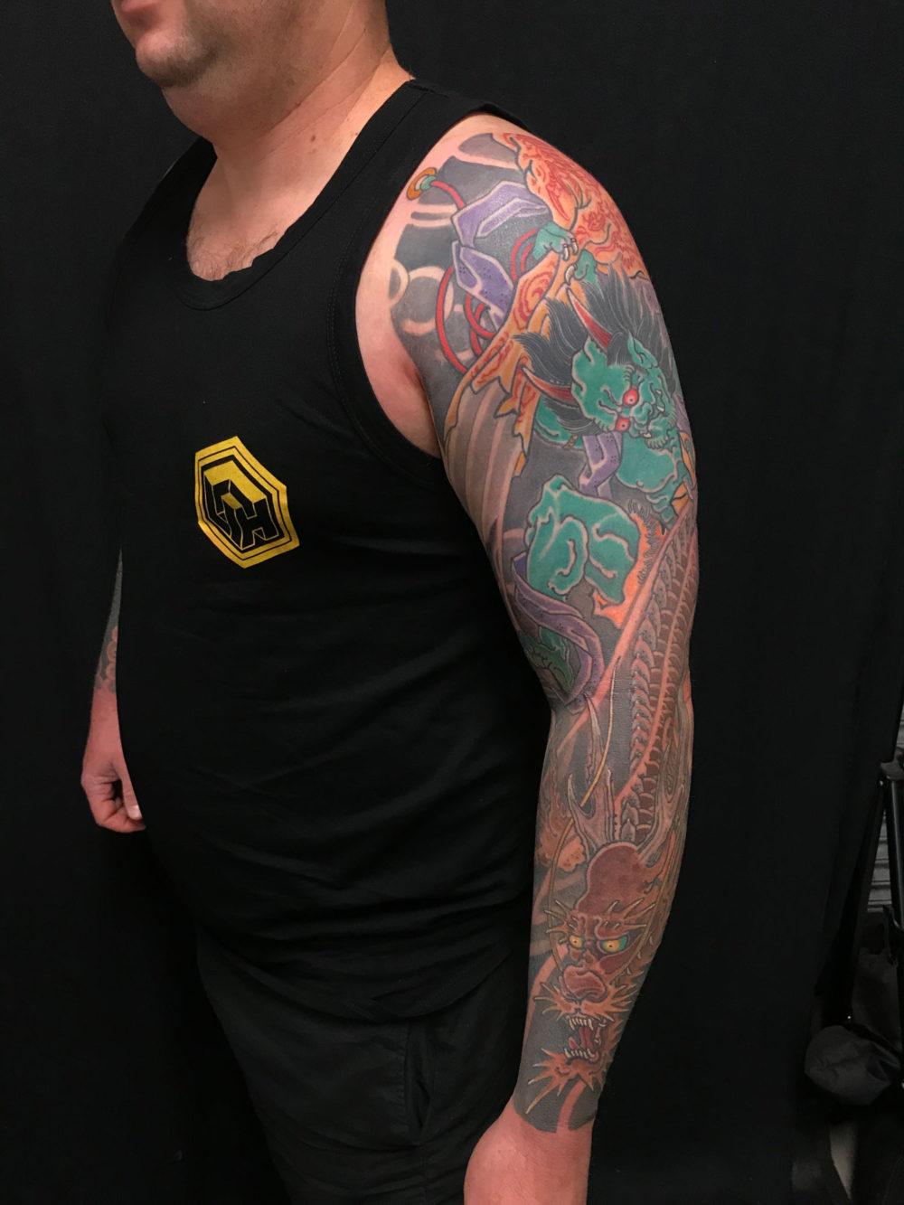 Raijin Sleeve Outer Tattoo