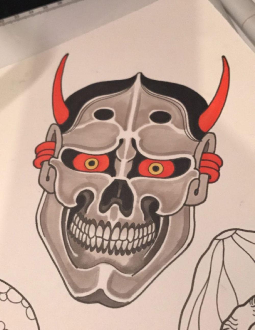 Skullhannya Tattoo Illustration