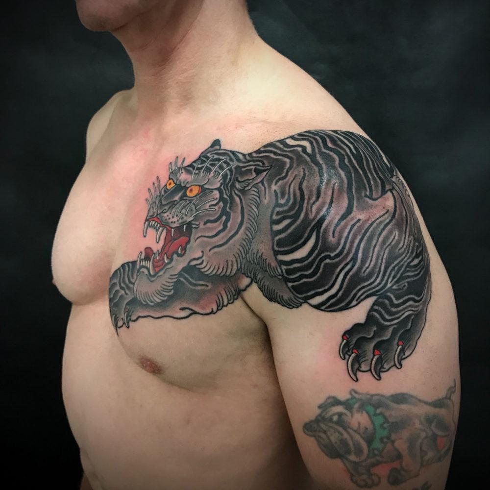 Tiger Chest #2 Tattoo