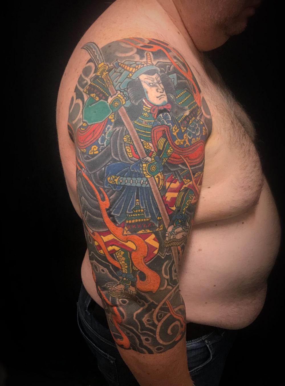 Totomori Sleeve Outer Warrior Sleeve Tattoo