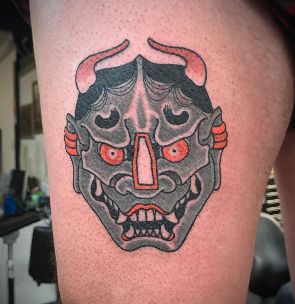 Hannya Tsuba Tattoo